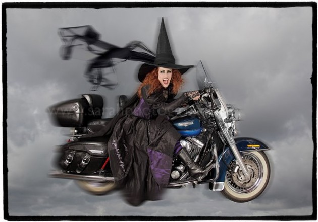 Witch on a Harley Davidson photo art for Wizard of Oz by Sarahphotogirl