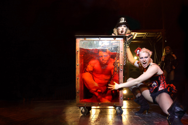 Acts on stage with The Circus of Horrors