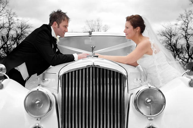 The Bride, Groom and Car