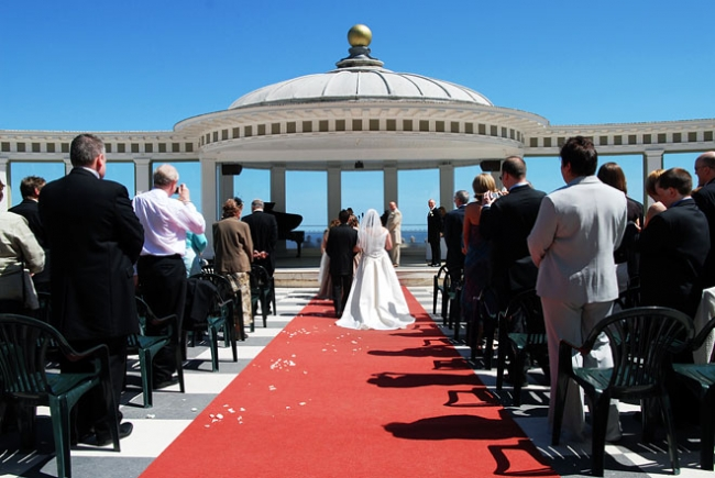 A beautiful day for a ceremony