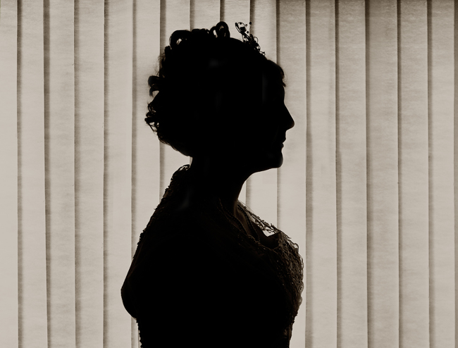 Cameo Silhouette of the Bride